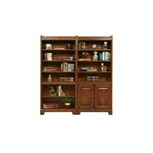 """72"""" Open Bookcase $499.00 and Bookcase with Doors $ 549.00"""