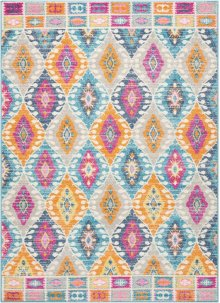 Passion Psn02 Multicolor Rectangle Rug 5'3'' X 7'3''