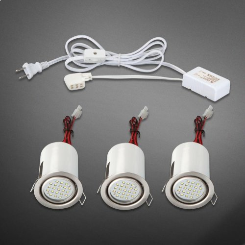 MINILITE KIT 3-LIGHT,ADJ,LED - Satin Nickel