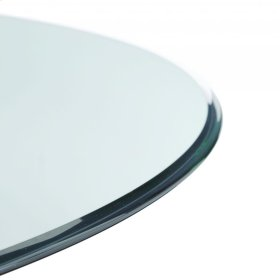 Clear Glass 70RD Dining Top