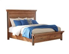 Taos King Bed Storage Footboard