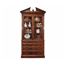 Mahogany Glazed Display Cabinet with Drawers