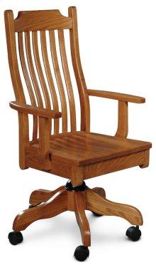 Urbandale Arm Desk Chair, Fabric Cushion Seat