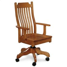 Urbandale Arm Desk Chair, Leather Cushion Seat