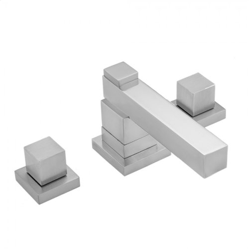 Pewter - CUBIX® Double Stack Faucet with Cube Handles & Fully Polished & Plated Pop-Up Drain