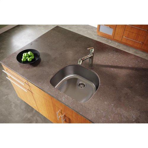 "Dayton Stainless Steel 23-1/2"" x 21-3/16"" x 8"", Single Bowl Undermount Sink"