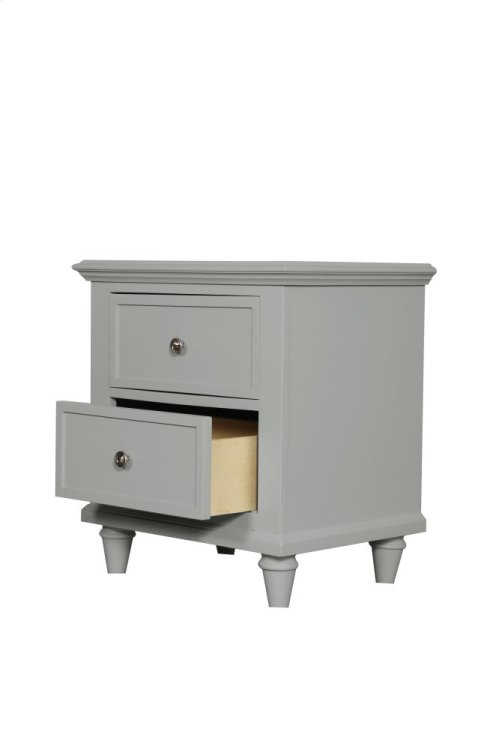 Emerald Home Home Decor 2 Drawer Night Stand-gray B381-04gry