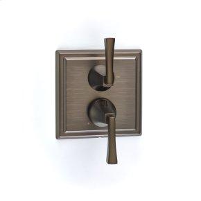 Dual Control Thermostatic with Volume Control Valve Trim Leyden (series 14) Bronze