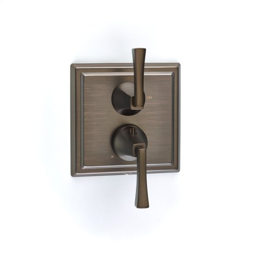 Dual Control Thermostatic with Volume Control Valve Trim Leyden (series 14) Bronze