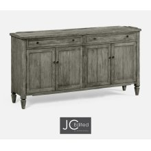Antique Dark Grey Four Door Sideboard