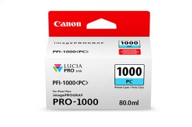 Canon PFI-1000 Photo Cyan Ink Tank Photo Cyan Individual Ink Tank