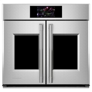 "MonogramMonogram 30"" Smart French-Door Electric Convection Single Wall Oven Statement Collection"