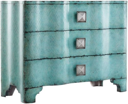 Melange Turquoise Crackle Chest