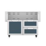 "Hestan42"" Hestan Outdoor Tower Cart with Door/Drawer Combo - GCR Series - Pacific-fog"