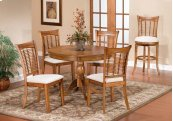 Bayberry 5pc Round Dining Set - Oak