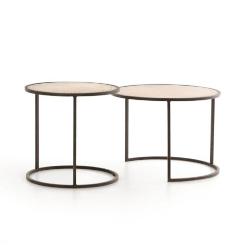 Catalina Nesting Tables-brass Clad