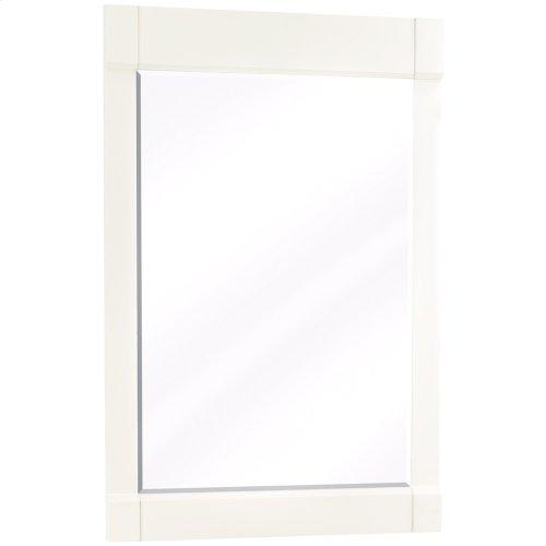 "22"" x 34"" Beveled glass mirror with Cream White finish."