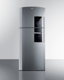 Counter Depth 18 CU.FT. Frost-free Refrigerator-freezer With Icemaker In Platinum With A Left Hand Door Swing, Part of the Ingenious Series Designed for True User Convenience