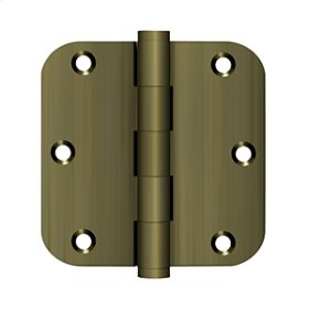 "3 1/2""x 3 1/2""x 5/8"" Radius Hinges - Antique Brass"