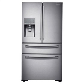 """36"""" Wide, 23 cu. ft. Counter-Depth French Door Refrigerator with Sparkling Water Dispenser (Stainless Steel)"""