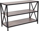 "Chelsea Collection 3 Shelf 26""H Cross Brace Bookcase in Sonoma Oak Wood Grain Finish Product Image"
