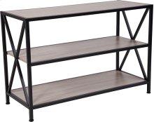 Chelsea Collection Sonoma Oak Wood Grain Finish Bookshelf with Metal Frame