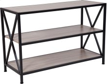 Chelsea Collection Sonoma Oak Wood Grain Finish Bookshelf with Metal Frame