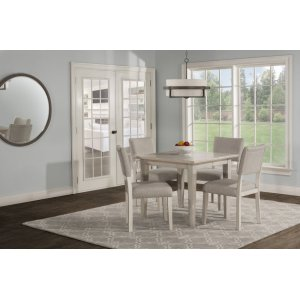 Hillsdale FurnitureElder Park 5-piece Rectangle Dining Set - White Sands With Oatmeal Fabric