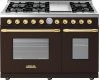 Range DECO 48'' Classic Brown matte, Gold 6 gas, griddle and 2 gas ovens
