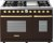 Additional Range DECO 48'' Classic Brown matte, Gold 6 gas, griddle and 2 gas ovens