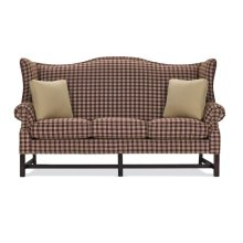 High Back Sofa with Oak Chippendale Base