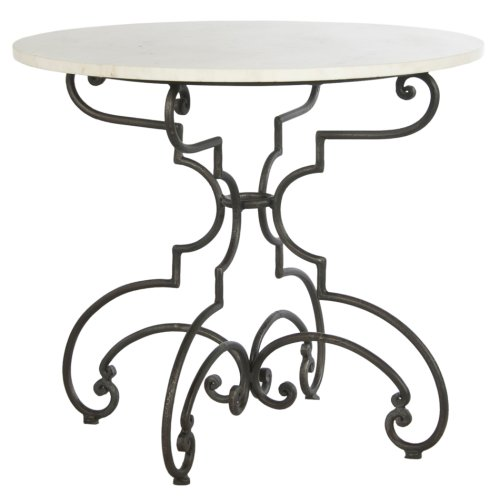 The French Iron And Marble Table