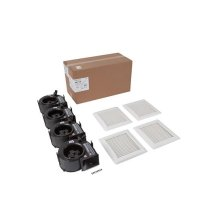 InVent Series 110 CFM 1.0 Sones Finish Pack with White Grille; ENERGY STAR® certified product