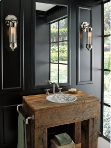 Widespread Lavatory Faucet With High Spout - Less Handles