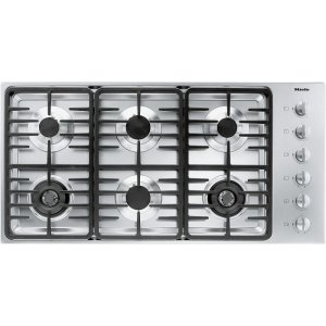 MieleKM 3485 LP Gas cooktop with 2 dual wok burners for particularly versatile cooking convenience.