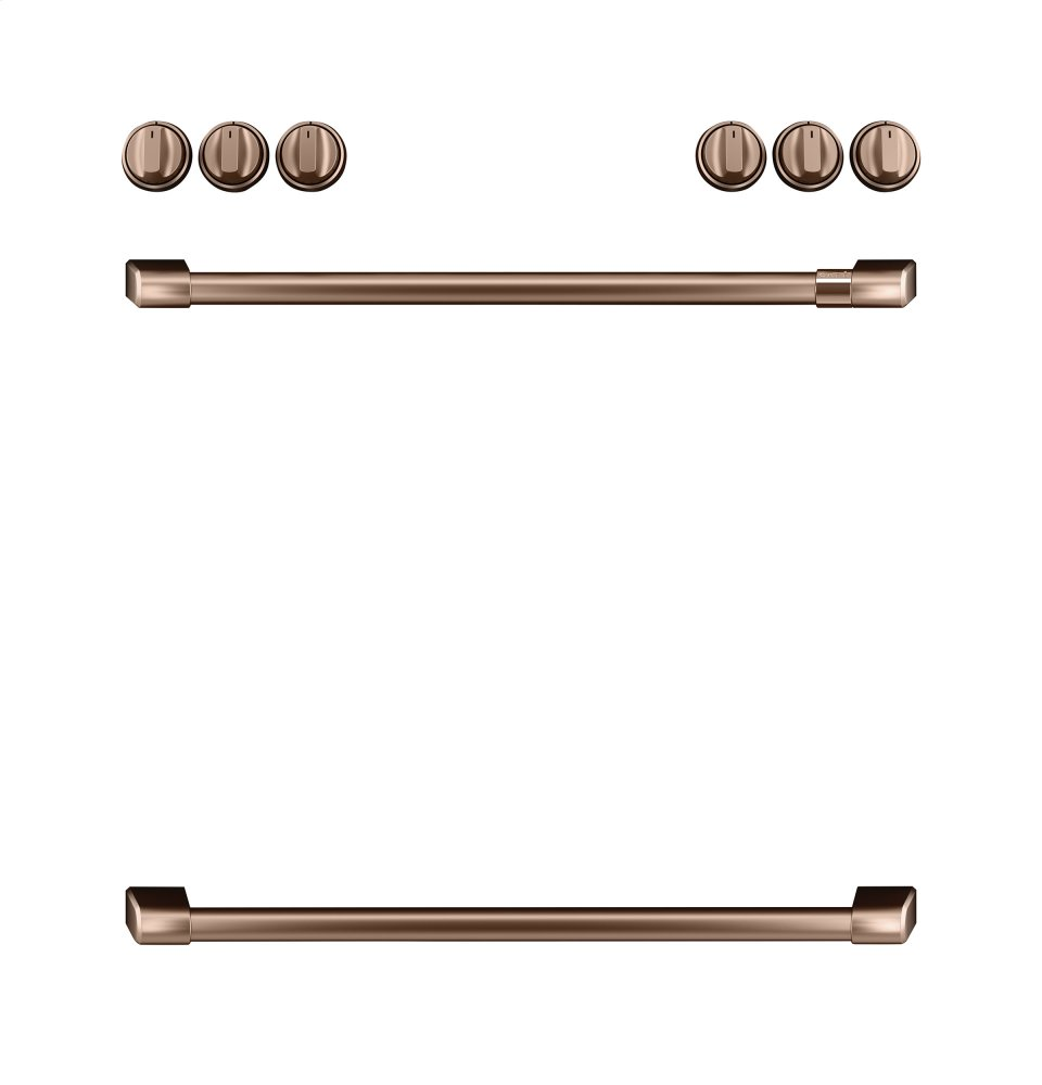 Caf(eback) Front Control Gas Knobs and Handles - Brushed Copper