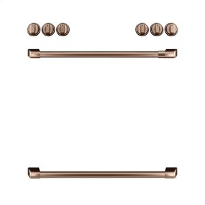 GEFront Control Gas Knobs and Handles - Brushed Copper