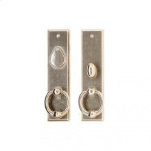 "Rectangular Entry Set - 2 1/2"" x 10"" White Bronze Brushed"