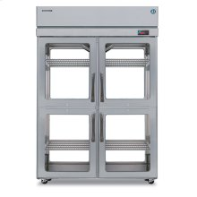 Refrigerator, Pass Thru Upright, Two Section, Half Stainless Door