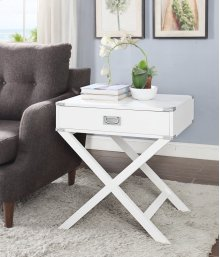 7082 White End Table