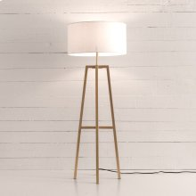 Brass Finish Lewis Floor Lamp