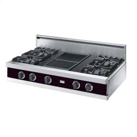 "Plum 42"" Open Burner Rangetop - VGRT (42"" wide, four burners 12"" wide char-grill)"