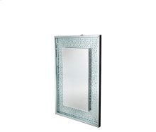 Montreal Rect Crystal Framed Wall Mirror w/L E D Lighting