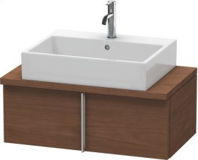 Vero Vanity Unit For Console Compact, American Walnut (real Wood Veneer)