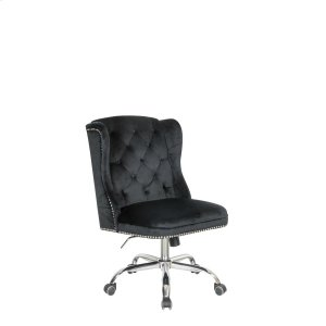 CoasterModern Black Velvet Office Chair