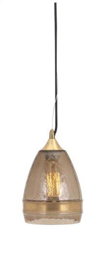 Freya Small Brown Dome Pendant Light