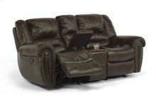 Crosstown Leather Gliding Reclining Love Seat