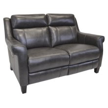 Benton-Smoke Reclining Loveseat
