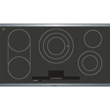 36' Electric Cooktop Benchmark Series - Black with Stainless Steel Frame