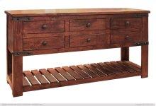 Sofa Table w/6 Drawers